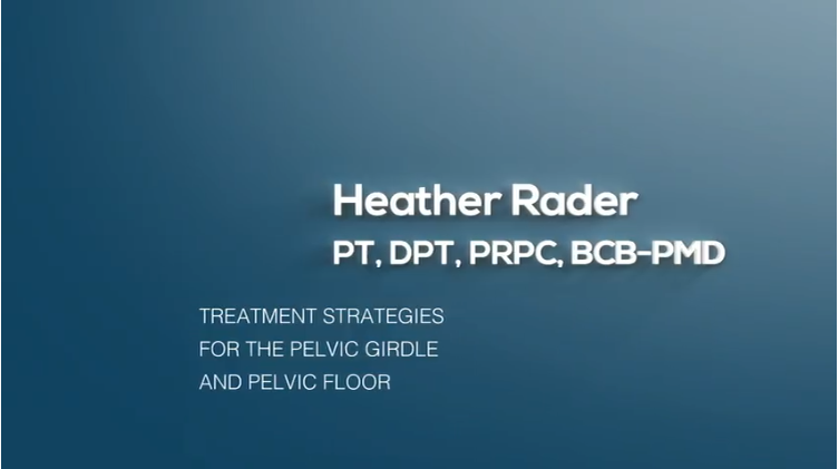 Treatment Strategies for the Pelvic Girdle and Pelvic Floor